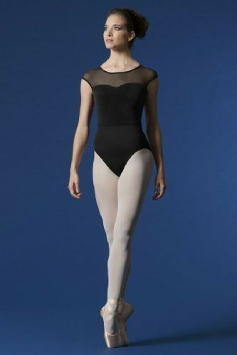 Mirella by Bloch Ladies Cap Sleeve Dance Leotard Velvet Bodice Open Back M5077